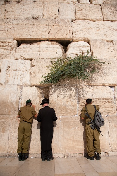Israeli Soldiers at Jerusalem's Western Wall
