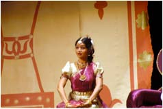 Indira Sarma, performing the role of Princess Swapna as a young girl.