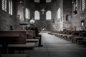 Man Sitting In Church