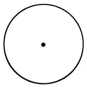 Circle with dot in middle