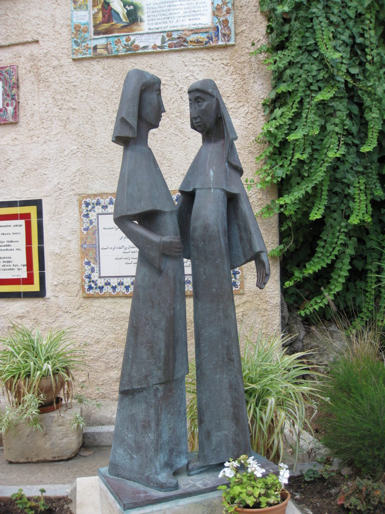 Photograph of Statue of the Visitation.